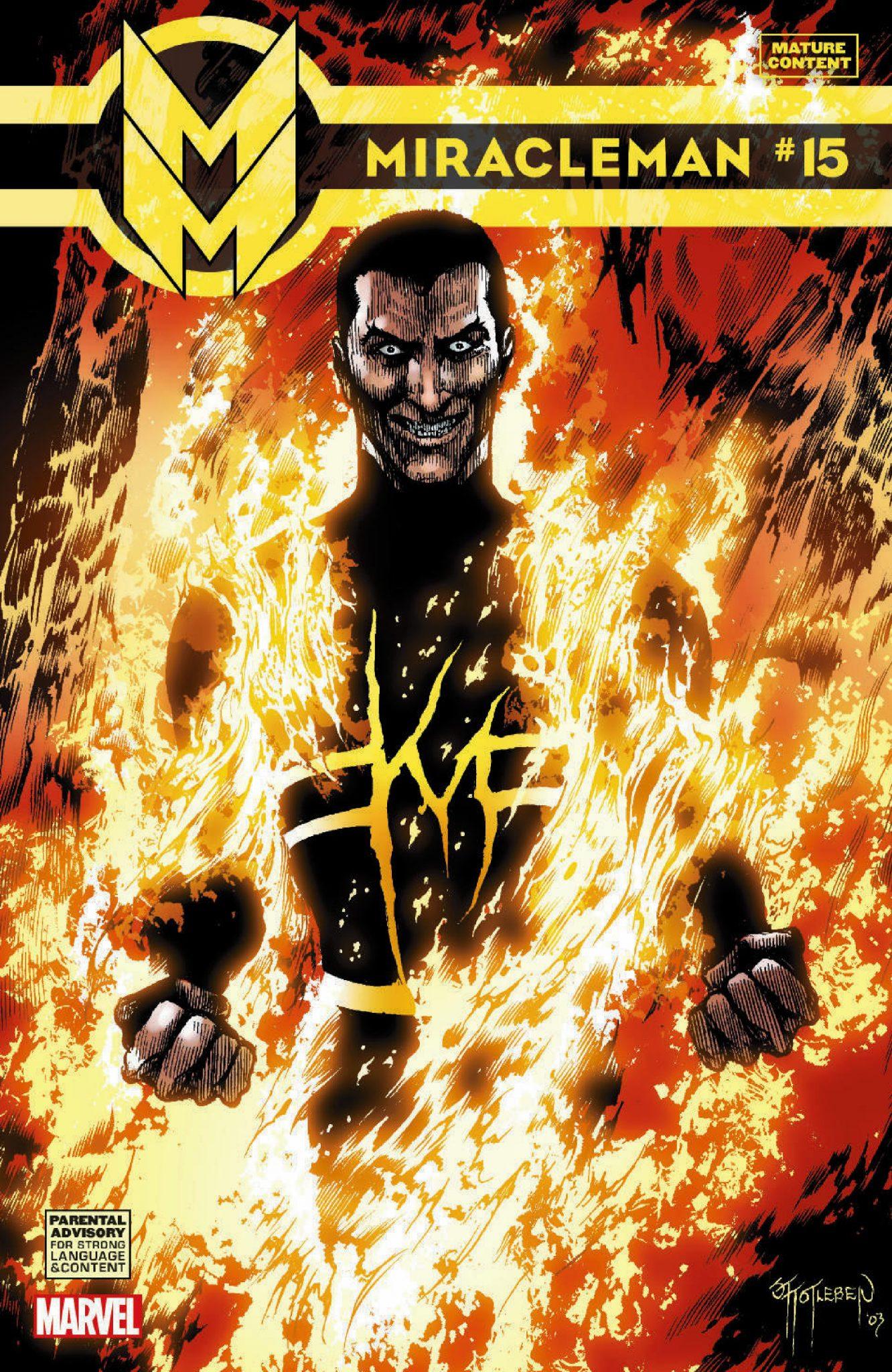Capa de Miracleman #15, publicada no Brasil pela Panini Comics